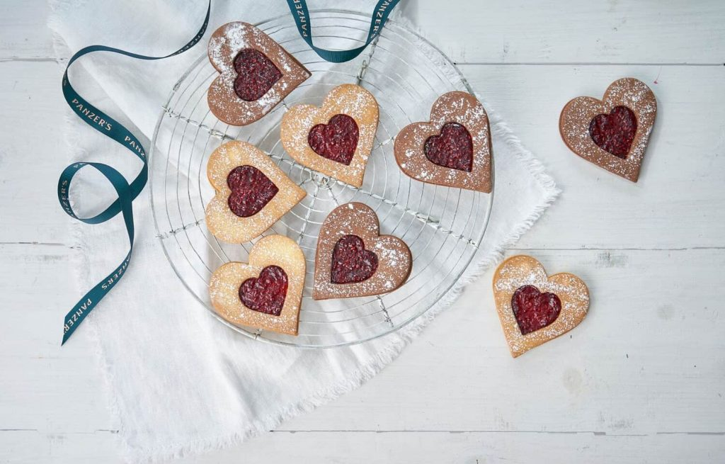 Panzers heart shape biscuits